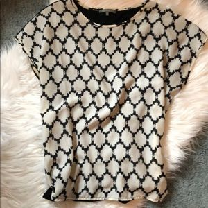 Tops - Black and Cream Top